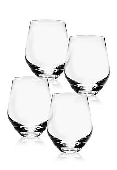 Lenox tuscany classics stemless white wine glass set of 4 belk - Lenox colored wine glasses ...