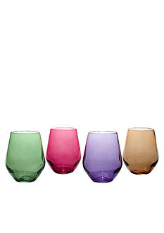 Lenox Tuscany Harvest Simply Red Wine Tumblers Set of 4
