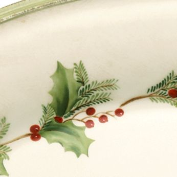 Christmas Table Decorations: Ivory Lenox HGATH ACCENT PLAID
