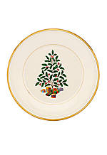 Holiday Golden Tree Accent Plate