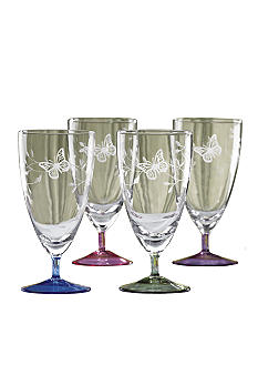 Lenox Butterfly Meadow All Purpose Glasses Set of 4