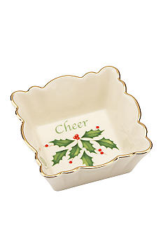 Lenox Holiday Fluted Square Cheer Dish