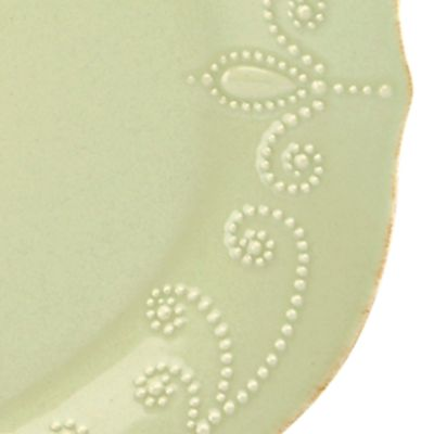Casual Dinnerware: Green Lenox French Perle Pistachio Oval Platter