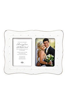 Lenox Bliss Invitation Double 5x7 Frame