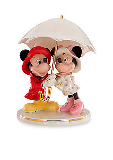 Lenox Mickey and Minnie Singing in the Rain Figurine
