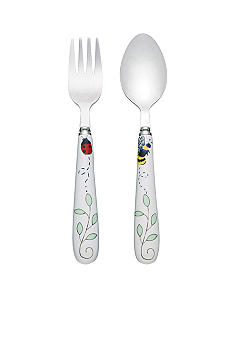 Lenox Butterfly Meadow Baby Feeding Fork and Spoon