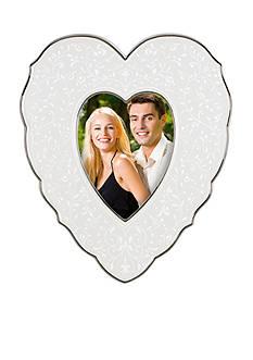 Lenox Opal Innocence 4x6 Heart Frame - Online Only