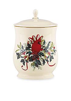 Lenox Winter Greetings Cookie Jar