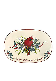Lenox Winter Greetings Merry Christmas Y'all Tray