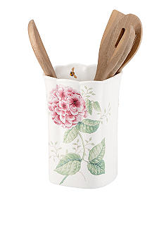 Lenox Butterfly Meadow Utensil Crock with 4 Utensils