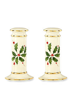 Lenox Holiday Salt and Pepper Shakers