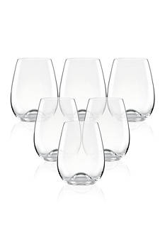 Lenox Tuscany Classics Stemless Wine Glasses Set of 6