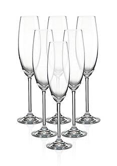 Lenox Tuscany Classics Flutes Set of 6 Champagne Glasses