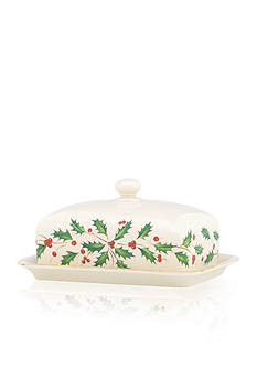 Lenox Holiday Covered Butter Dish