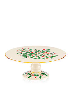 Lenox Holiday Footed Cake Plate, 40th Anniversary