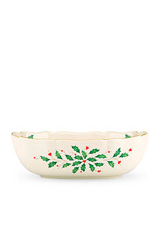 Lenox Holiday Large Fluted Bowl, 40th Anniversary