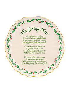Lenox Holiday Carved Giving Plate 11-in.