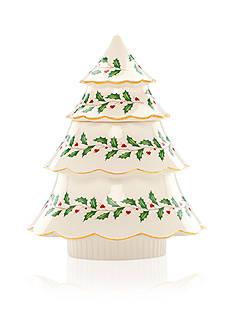 Lenox Holiday Tree Cookie Jar