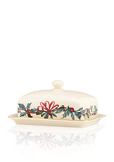 Lenox Winter Greetings Covered Butter Dish