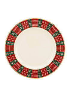 Lenox Winter Greetings Plaid Salad Plate