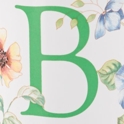 Lenox Dinnerware: B Lenox Butterfly Meadow Monogram Travel Mug