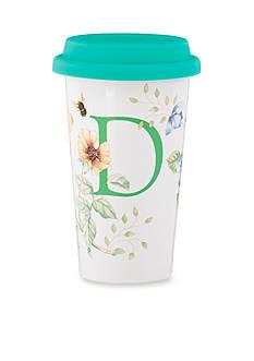 Lenox Butterfly Meadow Monogram Travel Mug