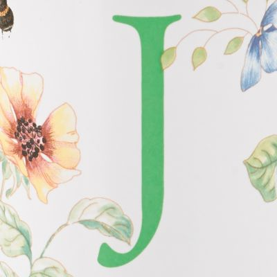 Lenox®: J Lenox Butterfly Meadow Monogram Travel Mug