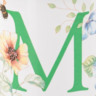 Lenox®: M Lenox Butterfly Meadow Monogram Travel Mug
