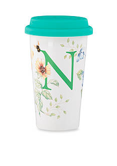 Lenox Butterfly Meadow Monogram Travel Mug