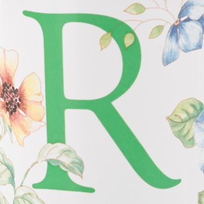 Lenox®: R Lenox Butterfly Meadow Monogram Travel Mug