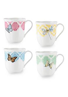 Lenox Butterfly Meadow Trellis Set of 4 Mugs