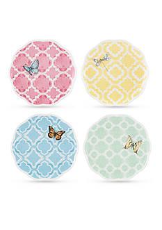 Lenox Butterfly Meadow Trellis Set of 4 Dessert Plates