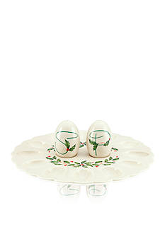 Lenox Holiday Egg Platter and Salt and Pepper Set