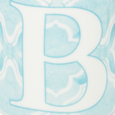 Coffee Mugs: B Lenox BM INITIAL MUG R - BLUE