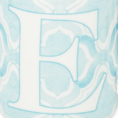 Coffee Mugs: E Lenox BM INITIAL MUG R - BLUE