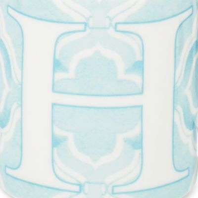 Mugs and Tea Cups: H Lenox BM INITIAL MUG T - PINK