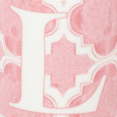 Personalized Home Decor: L Lenox BM INITIAL MUG T - PINK