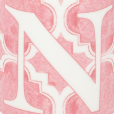 Personalized Home Decor: N Lenox BM INITIAL MUG T - PINK