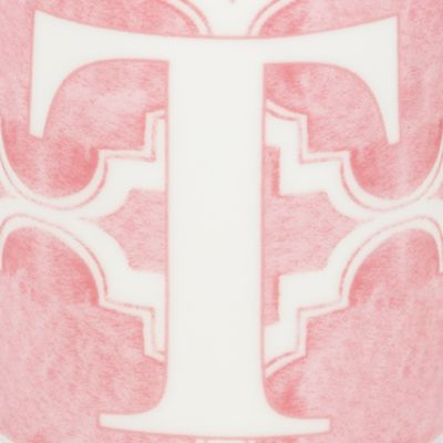 Mugs and Tea Cups: T Lenox BM INITIAL MUG T - PINK