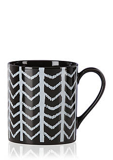 Lenox Around the Table Black Chevron Mug
