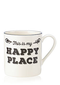 Lenox Around the Table Black Happy Place Mug