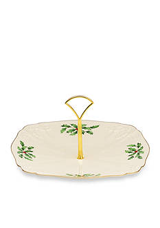 Lenox Holiday Archive Dessert Plate with Metal Handle
