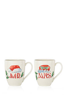 Lenox Holiday Mr. & Mrs. 2-piece Mug Set