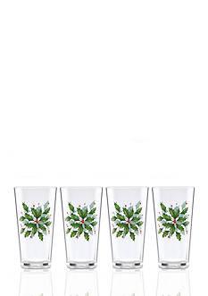 Lenox Holiday Acrylic Tumblers, Set of 4