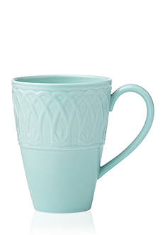 Lenox British Colonial Carved Aqua Mug