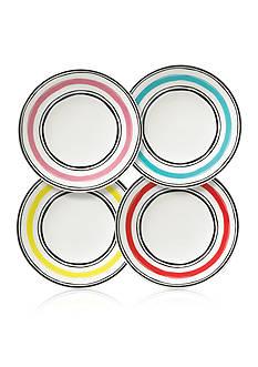 Lenox Stripe Dessert Plates S/4