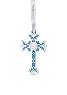 Wedgwood 2016 Figural Cross Blue Ornament