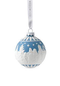 Wedgwood 2016 Visiting Santa Blue Ornament