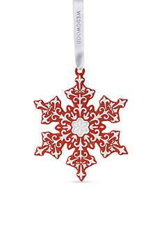 Wedgwood 2016 Snowflake Red Ornament