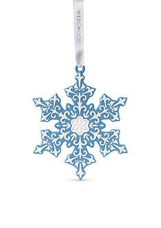 Wedgwood 2016 Snowflake Blue Ornament